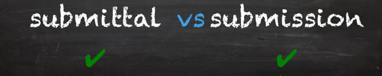 submittal vs submission